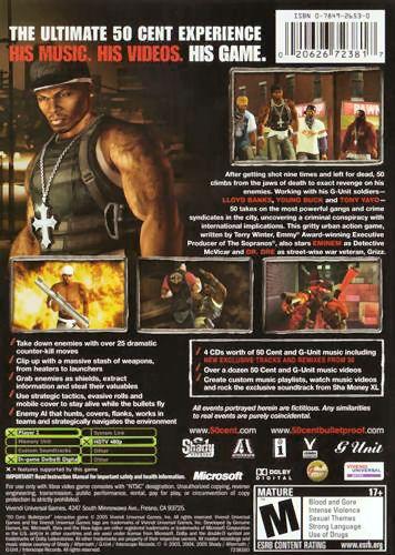 50 Cent: Bulletproof  XBX