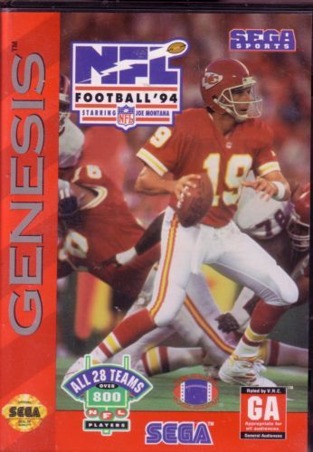 NFL FOOTBALL 94 STARRING JOE M GEN